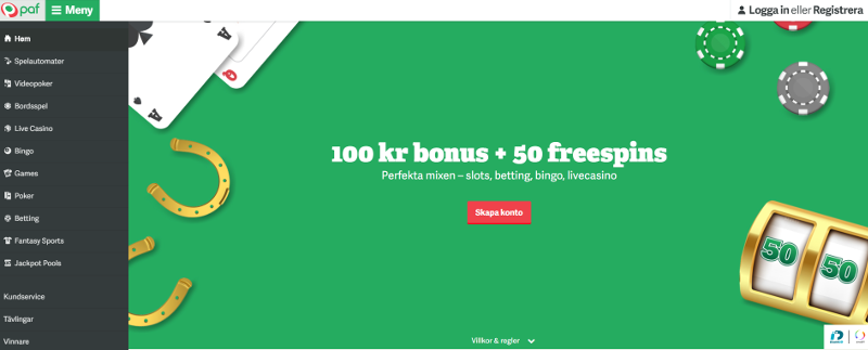 Paf Casino Bonus Code